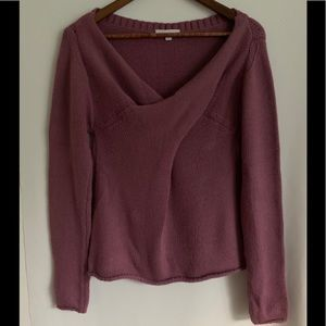 Don't ask why Italy twist front v neck sweater